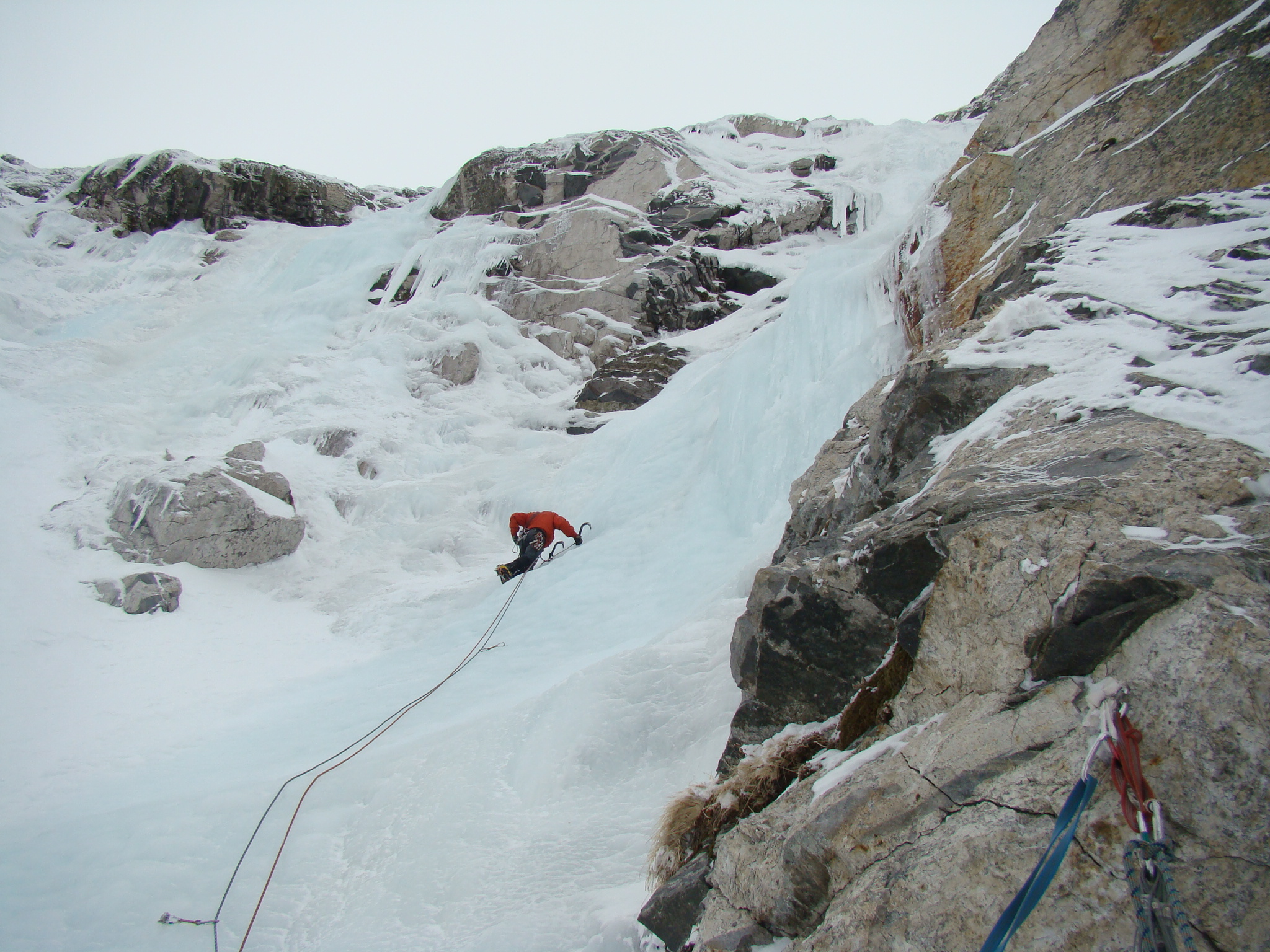 Ice climbing at the seven rila lakes