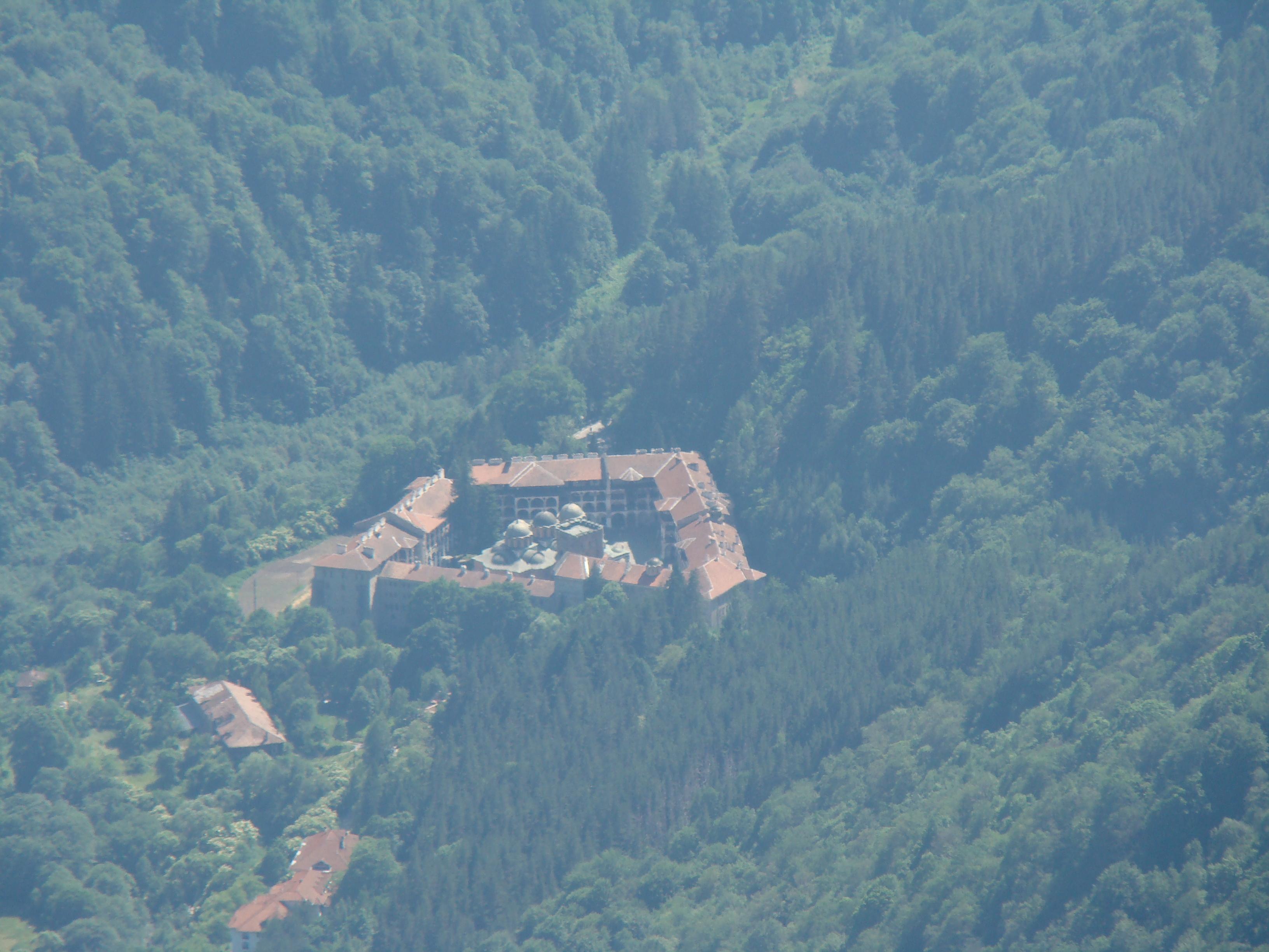 rila Monastery from above