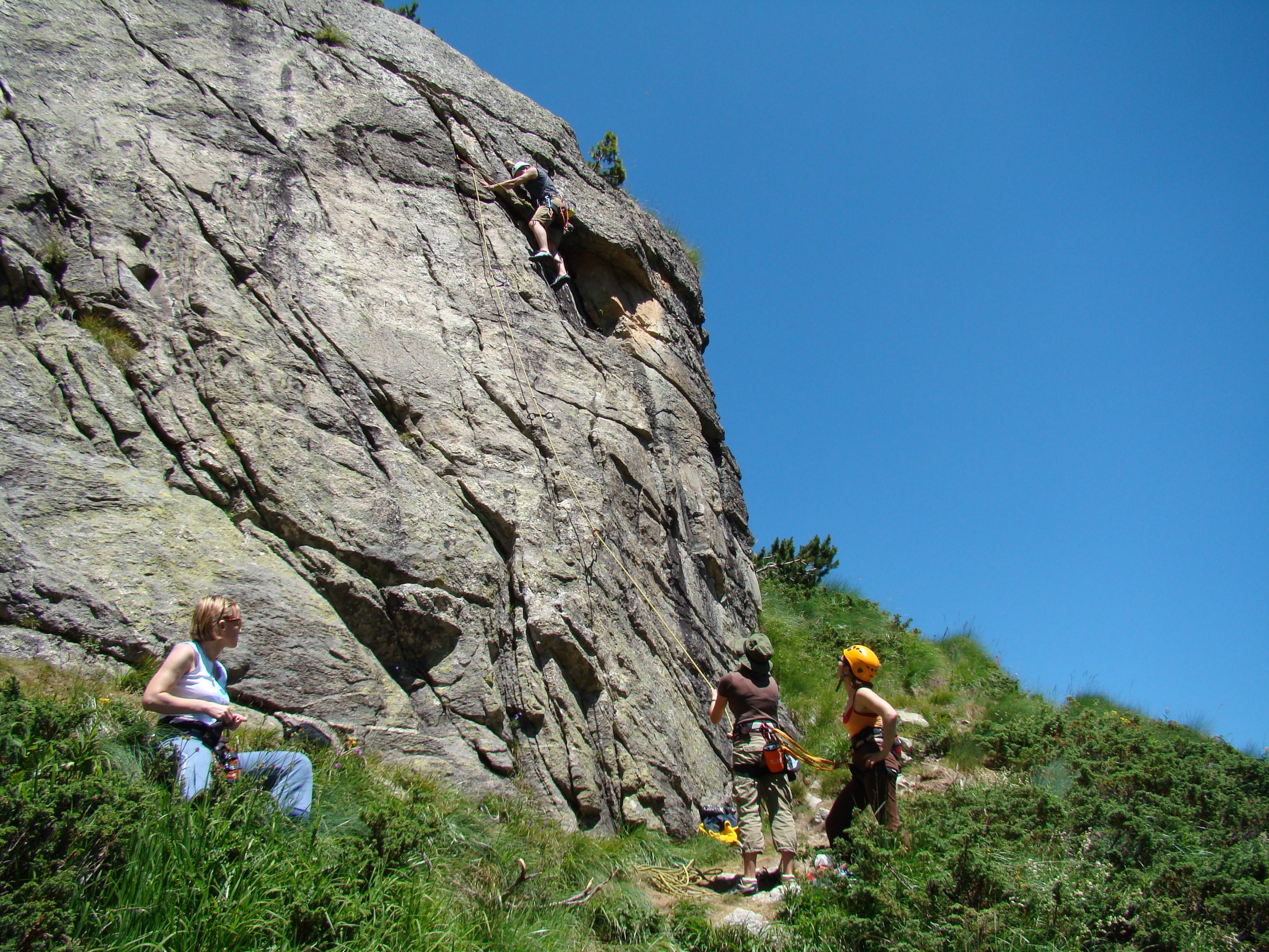 training rocks next to hut malyovitsa
