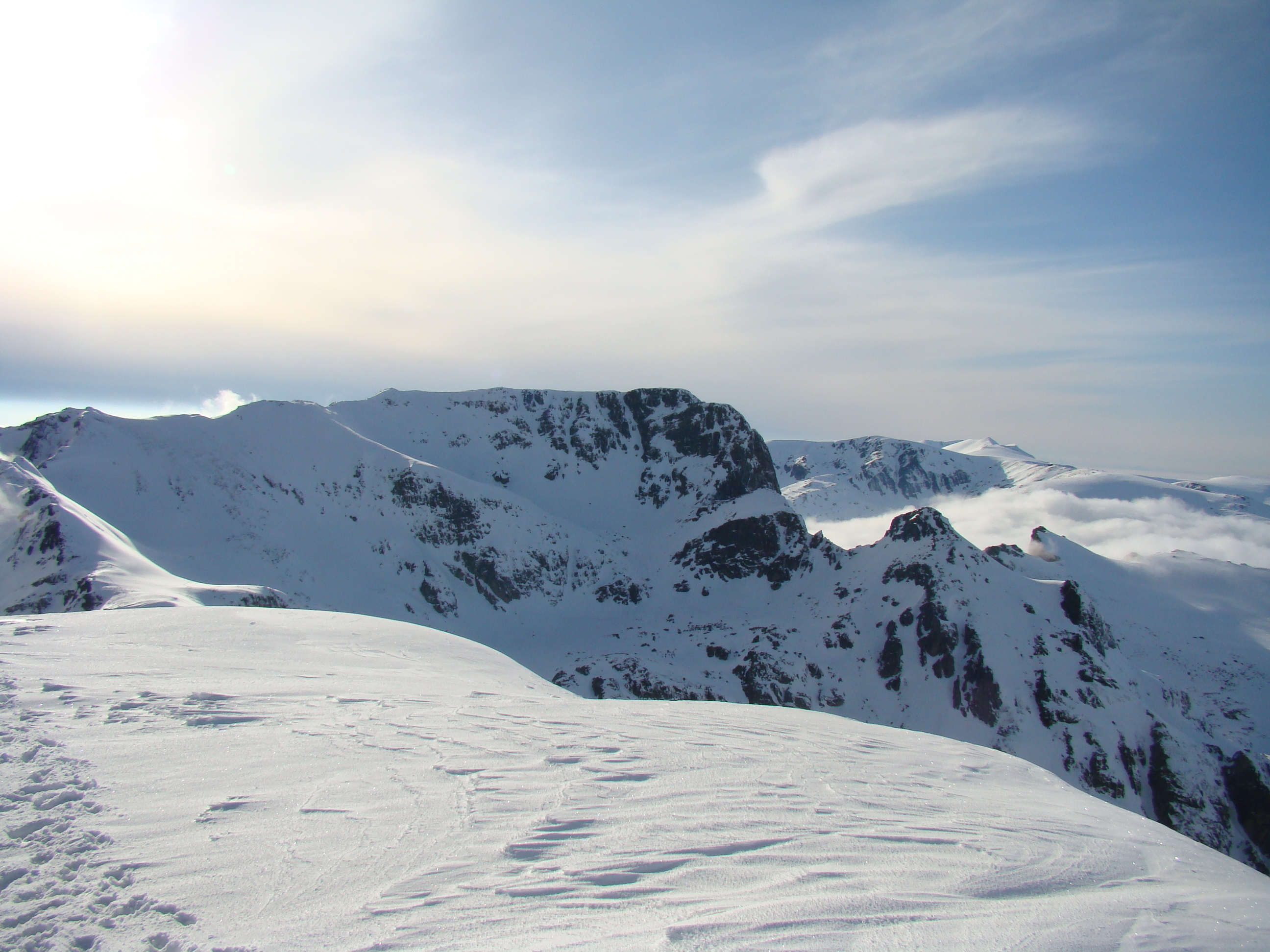 Peak Malyovitsa in the winter