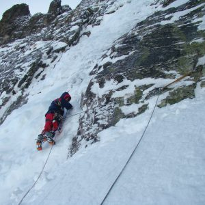 Ice climbing at Mt.Kamilata, Rila