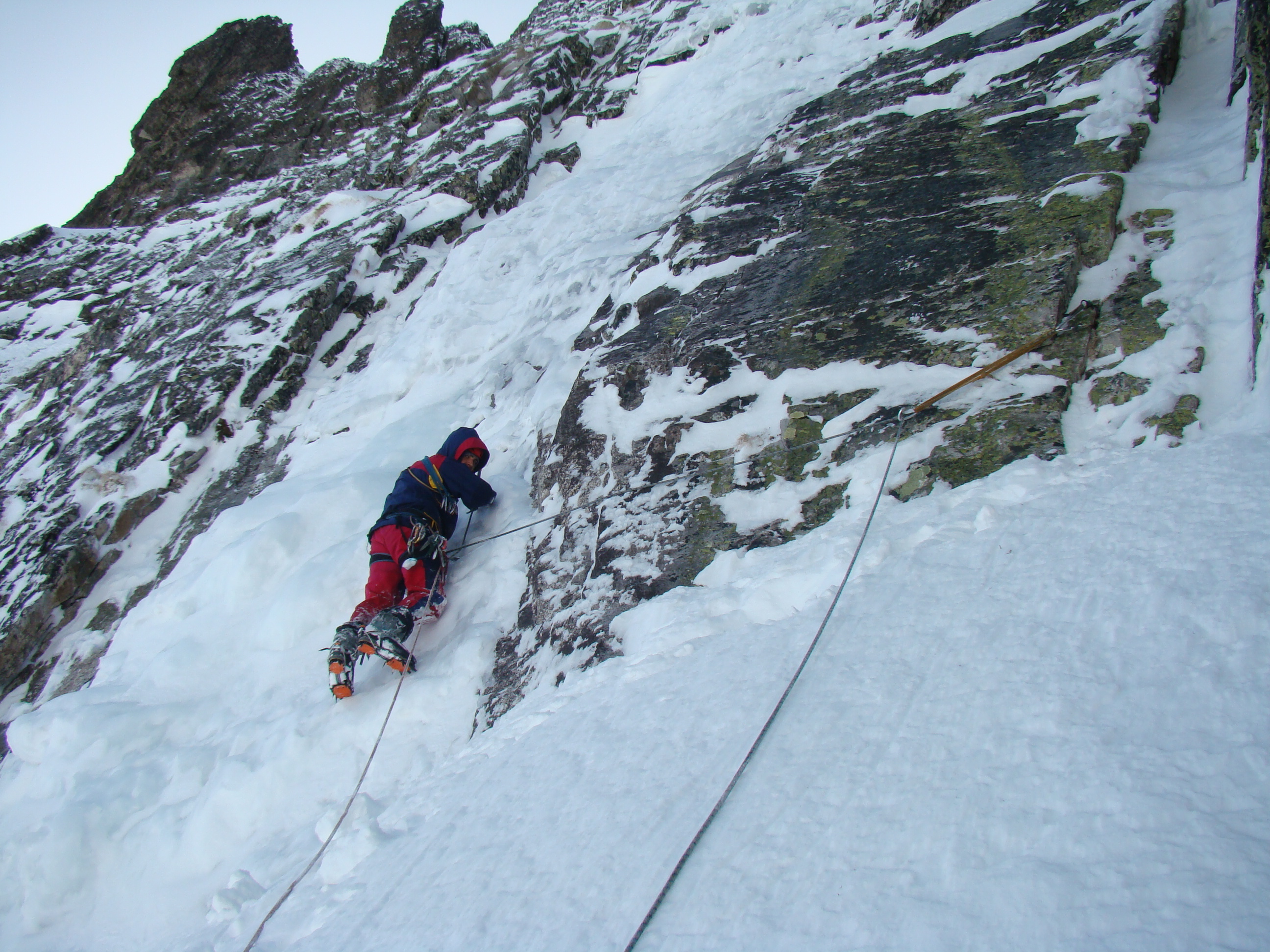 Ice climbing at Mt.Kamilata, Rila