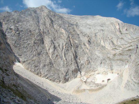 Die Nordwand von Berg Wichren
