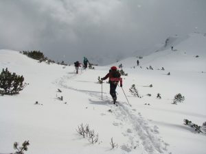 Ski touring at the range of Malyovitsa