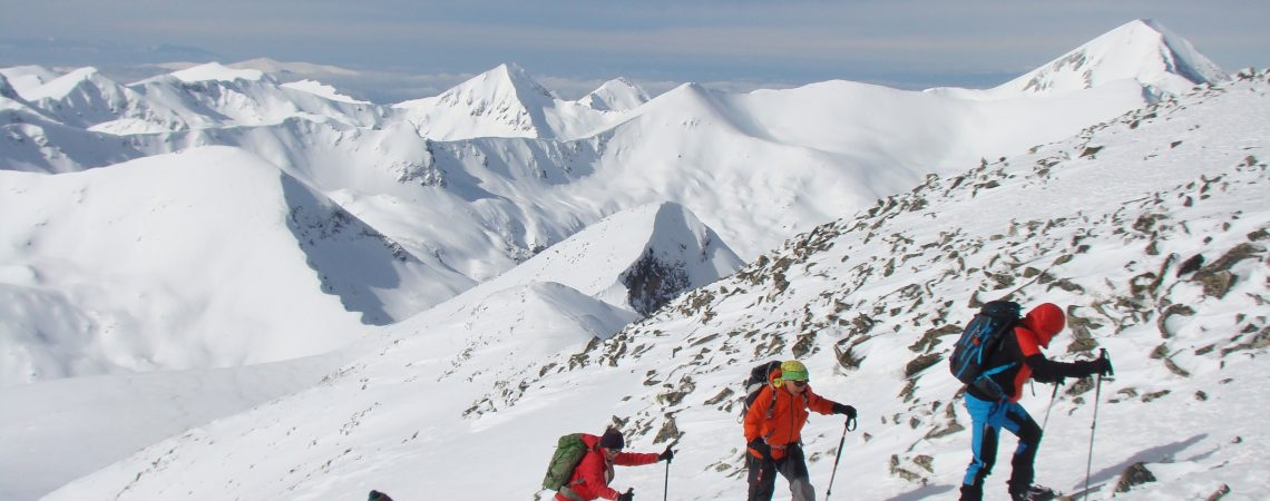 Backcountry ski at Polezhan, the 4th highest peak in Pirin mountain