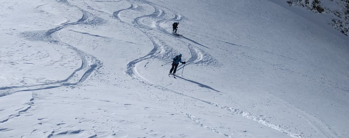 Down skiing at Seven Rila lakes, Bulgaria
