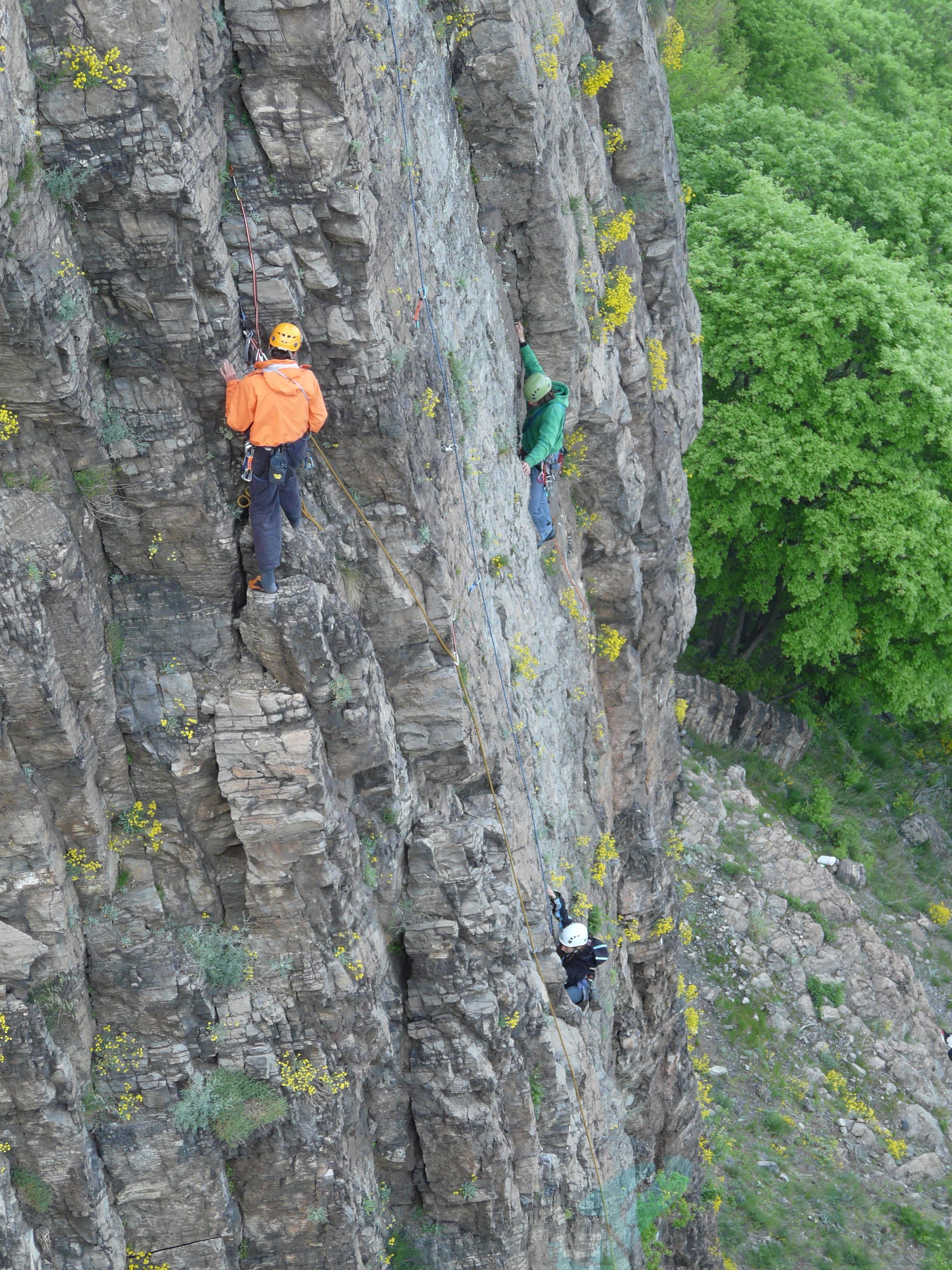 Climbing at Momina skala